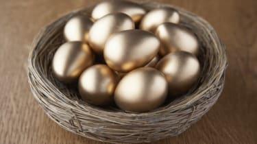 A basket of golden eggs