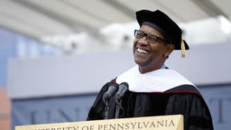 Actor Denzel Washington at the University of Pennsylvania's 255th Commencement Monday, May 16, 2011, in Philadelphia.(AP Photo/Matt Rourke)