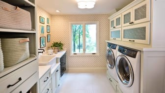 Newly renovated laundry room
