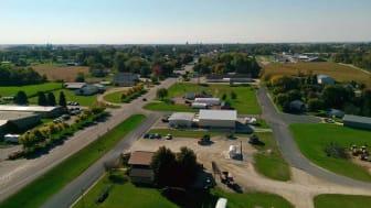 Aerial photo of Harmony, Minnesota