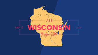 picture of Wisconsin with state nickname