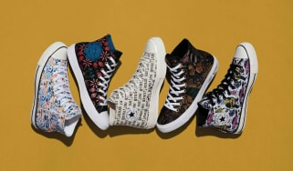 Picture of various styles of Chuck Taylor tennis shoes