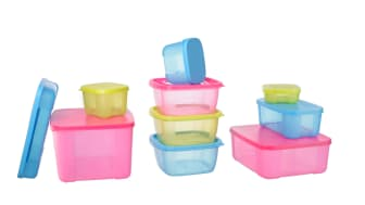 Plastic Containers with white background