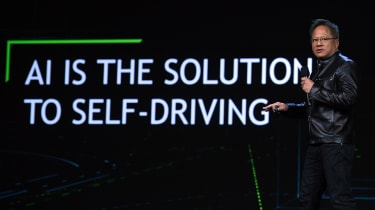 LAS VEGAS, NV - JANUARY 04:Nvidia Founder, President and CEO Jen-Hsun Huang delivers a keynote address at CES 2017 at The Venetian Las Vegas on January 4, 2017 in Las Vegas, Nevada. CES, the