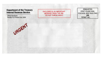 picture of envelope from the IRS