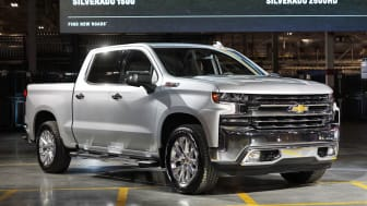 FLINT, MI - FEBRUARY 05: The new General Motors 2019 Chevy Silverado HD is revealed at the GM Flint Assembly Plant on February 5, 2019 in Flint, Michigan. On Monday, GM began laying off appro