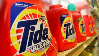 SAN FRANCISCO - JANUARY 28:Tide laundry detergent, made by Procter & Gamble Co.,is seen on display at the Arguello Supermarket January 28, 2005 in San Francisco. Procter & Gamble Co. announce