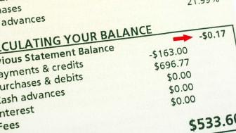photo illustration of low credit balance