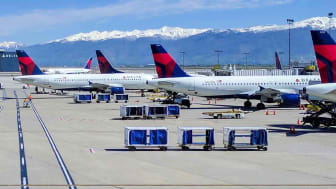 Delta airplanes at the airport