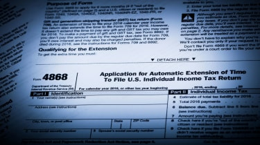 picture of IRS Form 4868