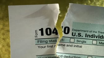 picture of torn tax form