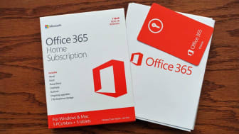 West Palm Beach, USA - January 2, 2016: Microsoft Windows Office 365 home subscriptionsoftwarepackage. Package includes Word, Excel, Powerpoint, OneNote, Outlook, and one terabyte cloud stora