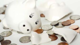 picture of a broken piggy bank