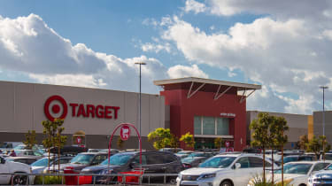 Burbank CA USA: November 27 2017: Target Store Exterior view of a Target retail store. Target Corporation is an American retailing company headquartered in Minneapolis, Minnesota. It is the s