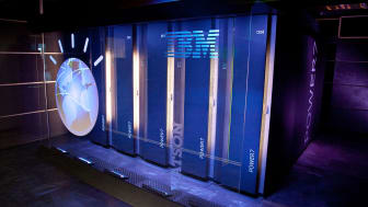 "YORKTOWN HEIGHTS, NY - JANUARY 13:A general view of IBM's 'Watson' computing system at a press conference to discuss the upcoming Man V. Machine ""Jeopardy!"" competition at the IBM T.J. Watson"