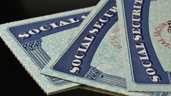picture of three social security cards