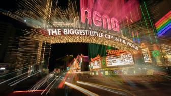 The neon lights of downtown Reno, Nev.