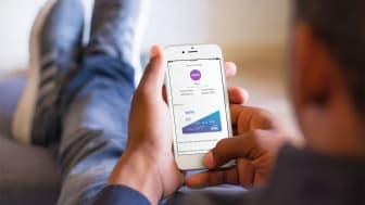 Photo of man using online banking app