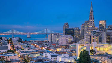 San Francisco at night, view from Telegraph Hill.