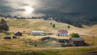 Nebraska fields in a stunning sunscape