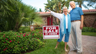 Senior couple buying a home in Florida