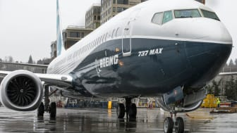 RENTON, WA - March 7: The first Boeing 737 MAX 9 airliner is pictured at the company's factory on March 7, 2017 in Renton, Washington. The 737 MAX 9, which can carry up to 220 passengers, is