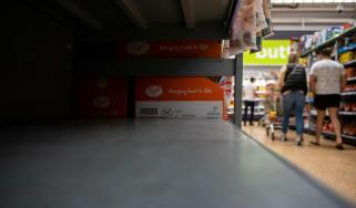 Photo of empty shelves