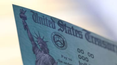picture of U.S. government check