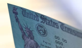 picture of U.S. government check