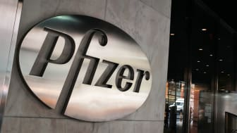 NEW YORK, NY - OCTOBER 29: The Pfizer headquarters in New York City stands in the heart of Manhattans business district on October 29, 2015 in New York City. Ireland-based Allergan confirmed