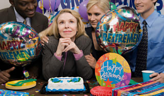 picture of woman at her retirement party