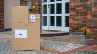Packages delivered at doorstep.