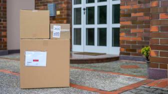 Packages delivered at doorstep.