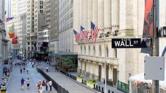 New York City, USA - June 25, 2016: The New york Stock Exchange on the Wall street in New York, NY. It is the largest stock exchange in the world by market capitalization.