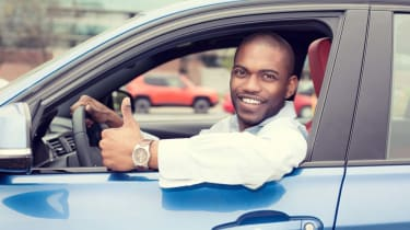 Photo of man behind the wheel