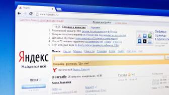 Yandex web page