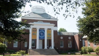 Campus view of the University of Delaware.