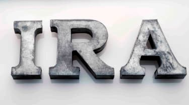 Picture of IRA letters in bold and gray