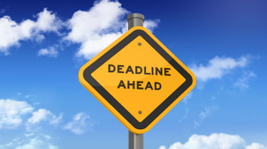 picture of road sign saying deadline ahead