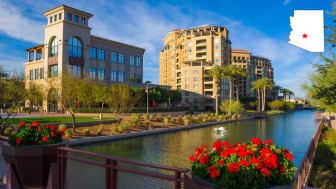 A view of downtown Scottsdale, Ariz.