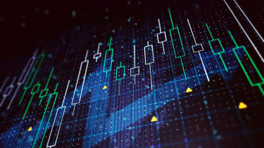 Concept art of a stock chart