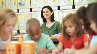 picture of childcare provider with children