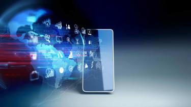 fintech on smartphone concept