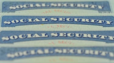 A stack of Social Security cards.