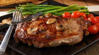 Grilled rib steak