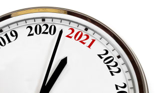 picture of clock about to reach 2021