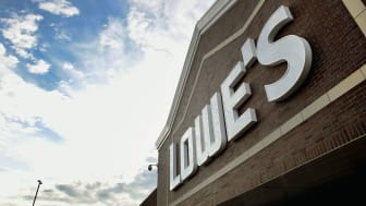 CHICAGO, IL - JULY 25:A sign marks the location of a Lowe's home improvement store on July 25, 2017 in Chicago, Illinois. A shortage of new single-family homes in the U.S. is causing many hom