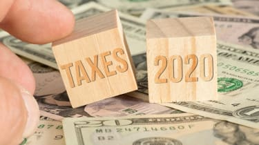 Two blocks saying taxes and 2020