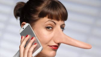 Suspicious-looking woman with a long nose.