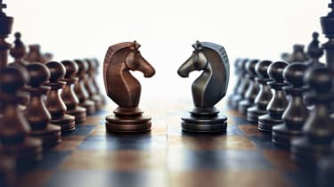 Dispute face to face in chess.